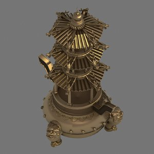 3D model decorations - incense burner