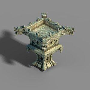 town magic cave - 3D model