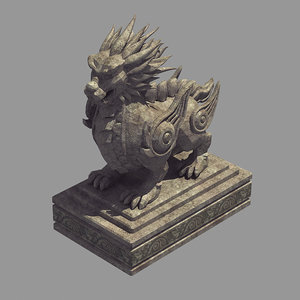 china - stone carving 3D model