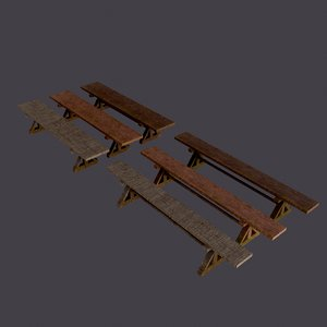 3D model wooden tables