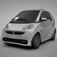 smart daimler white l307 3D model
