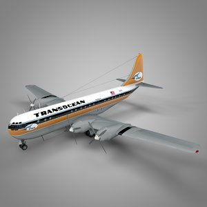 boeing 377 stratocruiser transocean 3D