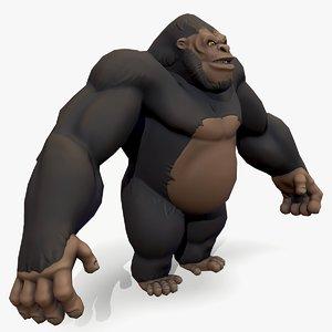 3D model ready gorilla