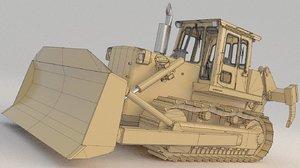 bulldozer td25g 1 3D model