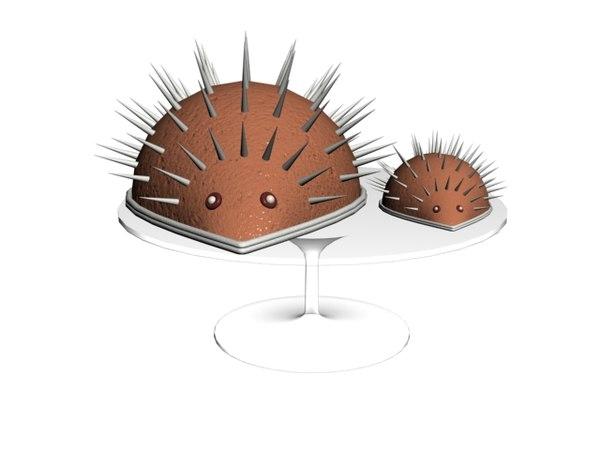 porcupine cake 3D model