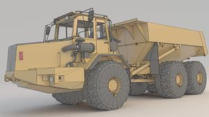 dump truck articulated a30 3D