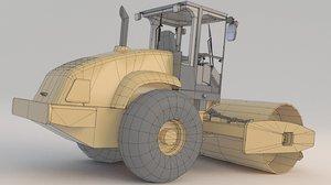 3D model road rollers cs56 compactor