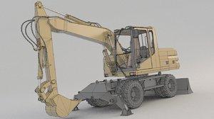 wheel excavator m315 2 3D