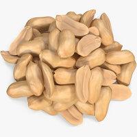 peanuts peeled 3D