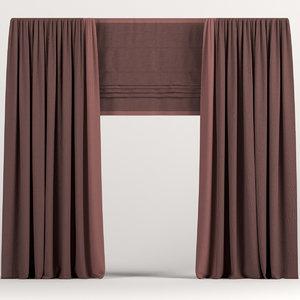 curtains drapes 3D