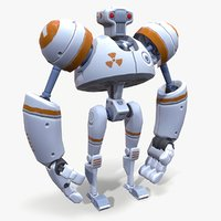 3D ready cartoon robot model