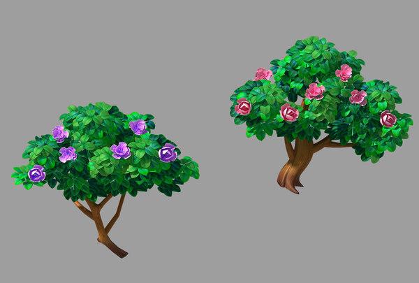 3D acre trees - flower