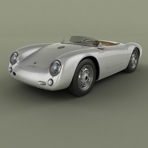 3D 1955 porsche 550 spyder model