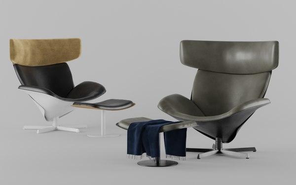 3D almora armchair model