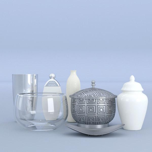 3D pot set kitchen model
