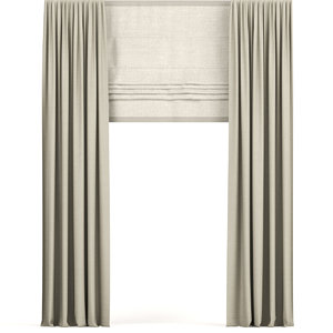curtains beige narrow 3D