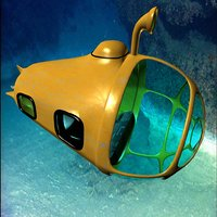 3D yellow submersible