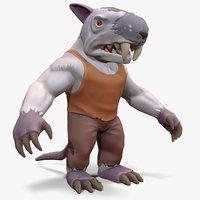 3D model ready rat-man