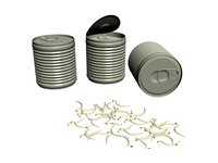3D bean sprouts tin model