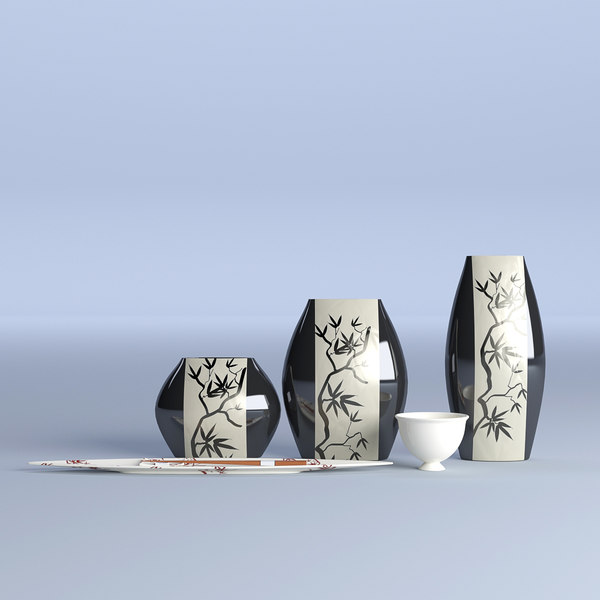 3D china pottery