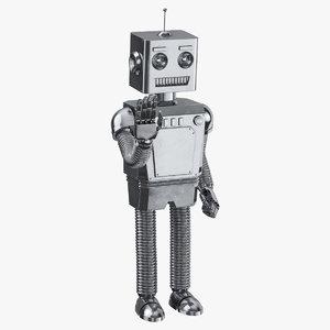 3D robot 01 waving