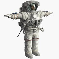 astronaut cosmonaut human obj