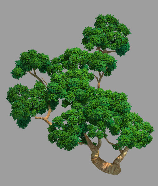 3D acres forest-tree 01 model