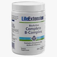 b complex vitamins 240 3D model