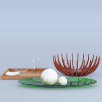 3D kitchenware set model
