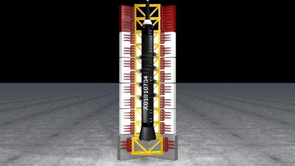 3D rocket stand