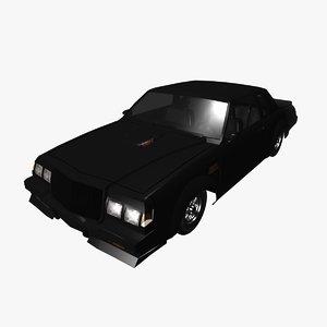 generic 80s muscle car model