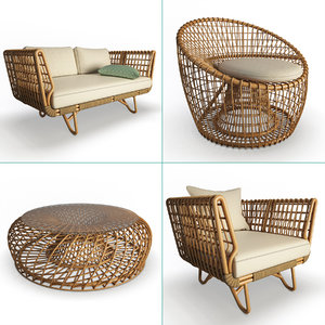 nest rattan furniture set model