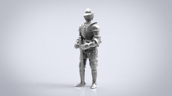 3D knight statue
