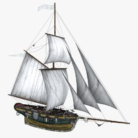 3D sea sailing ship model
