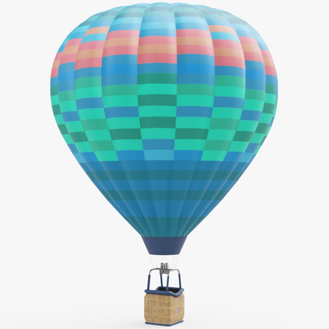 Heißluftballon 3D-Modell - TurboSquid 1254310