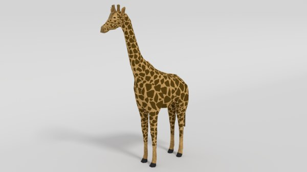 giraffe nature 3D model