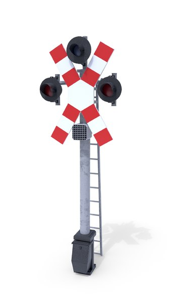 railway crossing traffic light model