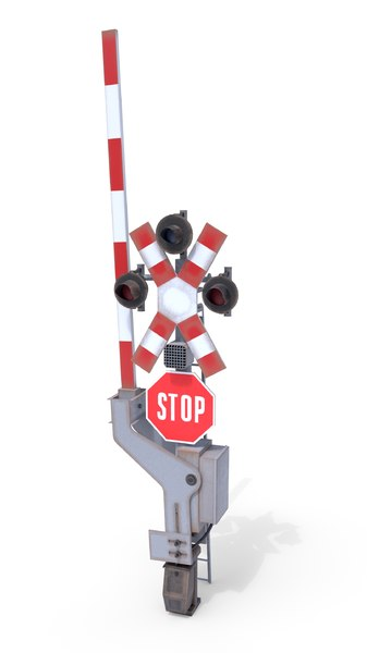 3D railway crossing traffic light