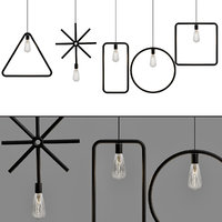 vintage pendant lights iron 3D