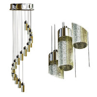3D poersi long chandelier