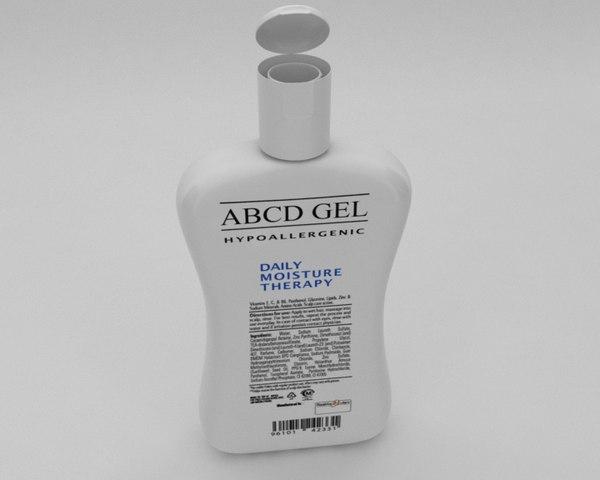 lotion bottle 3D