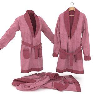 bathrobe set 3D