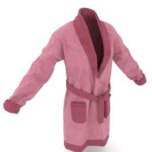 women s bathrobe 3D model