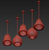 pentant lamp glass 3D