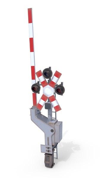 railway crossing traffic light model