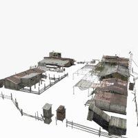abandoned base 3D model