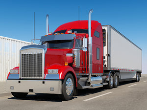 3D generic truck 6x4 trailer