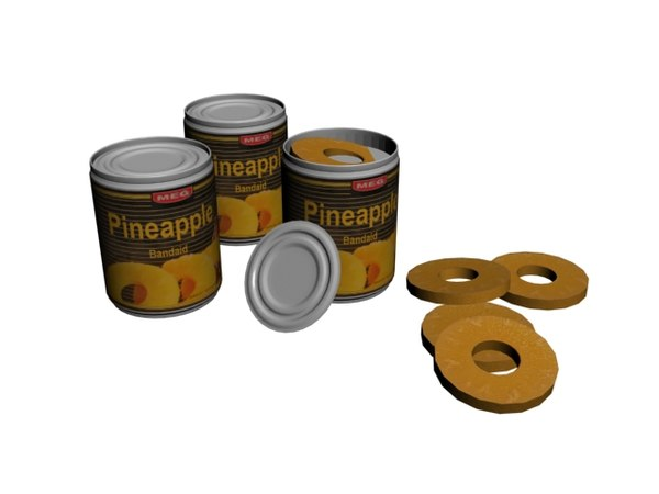 pineapple tin 3D model