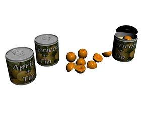 3D apricot tin