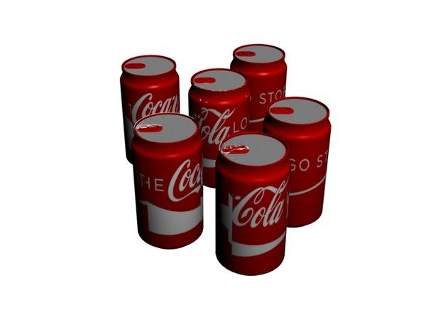 3D coke tin